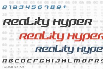 Reality Hyper Font