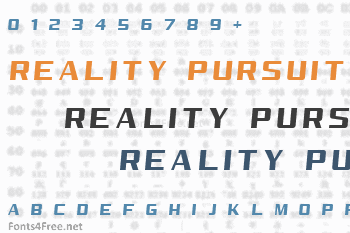 Reality Pursuit Font