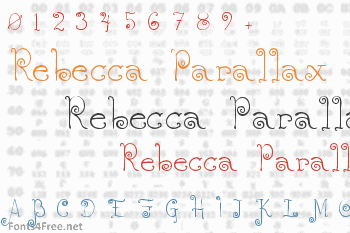 Rebecca Parallax Font