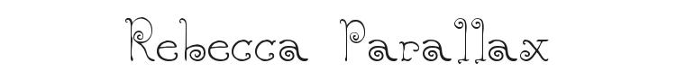 Rebecca Parallax Font Preview