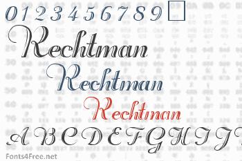 Rechtman Font