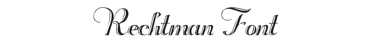 Rechtman Font Preview