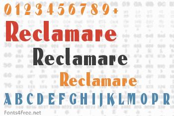 Reclamare Font