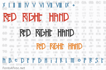 Red Right Hand Font