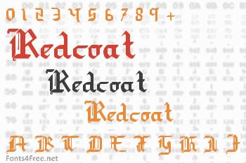 Redcoat Font