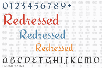 Redressed Font