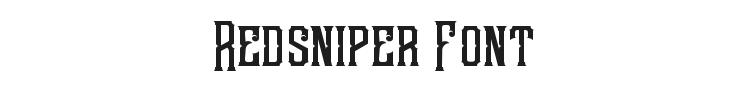 Redsniper Font Preview