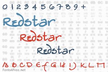 Redstar Font