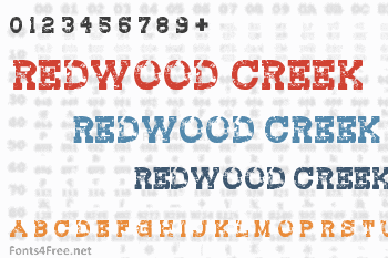 Redwood Creek Font
