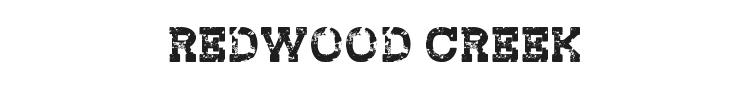 Redwood Creek Font Preview