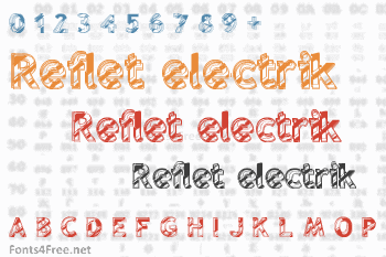 Reflet electrik Font