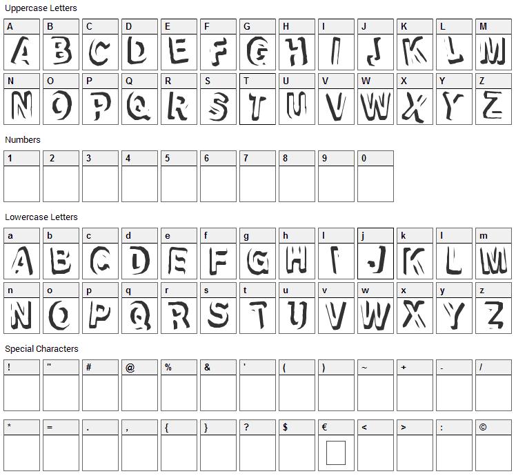 Refrigeration Font Character Map