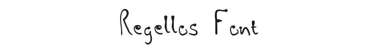 Regellos Font Preview