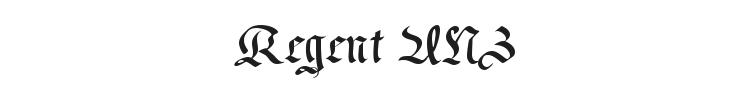 Regent UNZ Font Preview