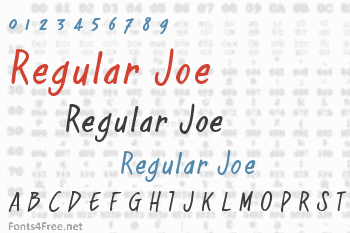 Regular Joe Font