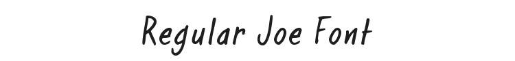 Regular Joe Font Preview