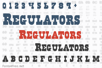 Regulators Font