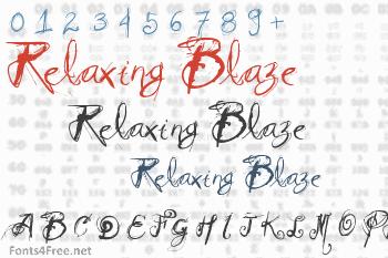 Relaxing Blaze Font