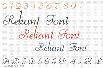 Reliant Font