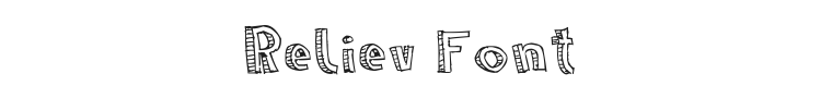 Reliev Font Preview