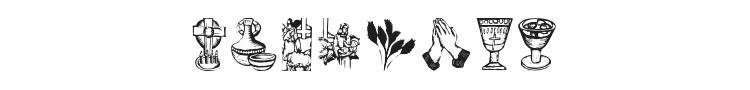 Religious Symbols Font Preview