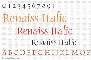 Renaiss Italic Font