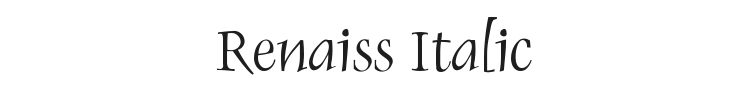 Renaiss Italic Font Preview