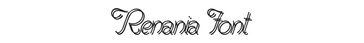 Renania Font Preview