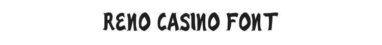 Reno Casino Font