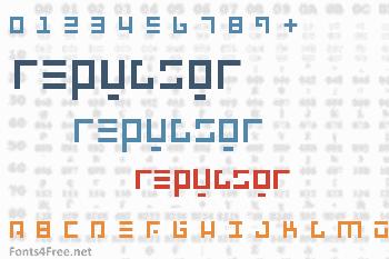 Repulsor Font