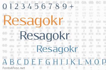 Resagokr Font