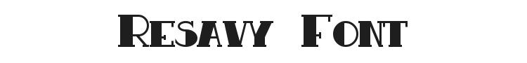 Resavy Font