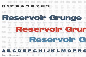 Reservoir Grunge Font