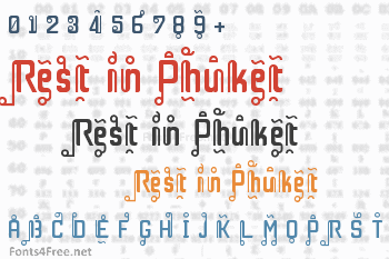 Rest in Phuket Font