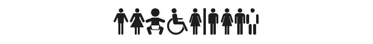 Restroom Font