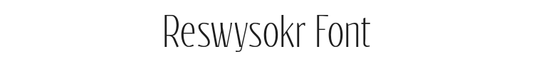 Reswysokr Font Preview