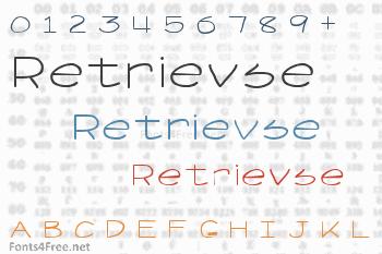 Retrievse Font