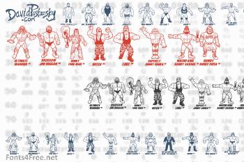 Retro Hasbro WWF Figures Font