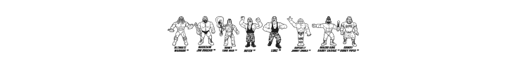 Retro Hasbro WWF Figures Font Preview