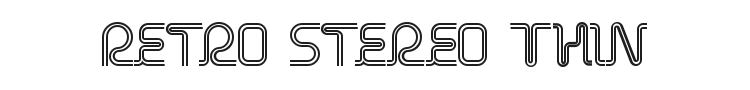 Retro Stereo Thin Font Preview