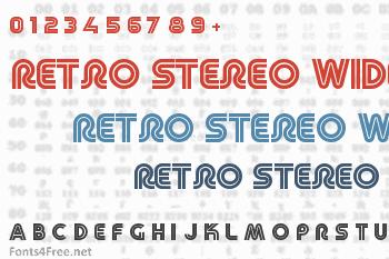 Retro Stereo Wide Font