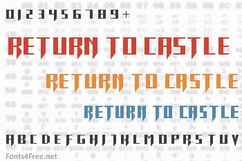 Return To Castle Font