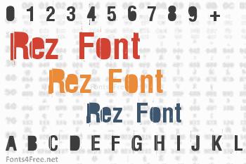Rez Font