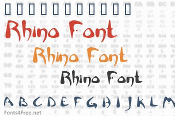 Rhino Font