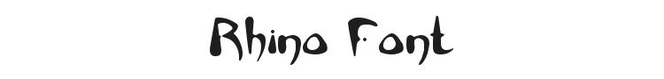 Rhino Font Preview