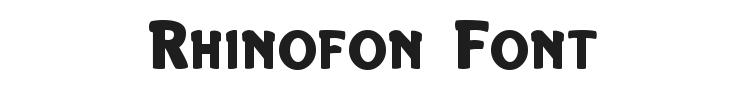 Rhinofon Font