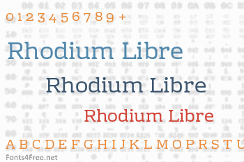 Rhodium Libre Font