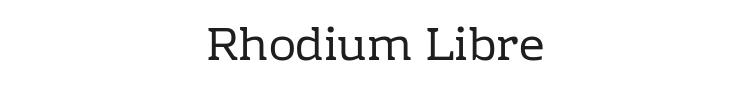 Rhodium Libre Font Preview