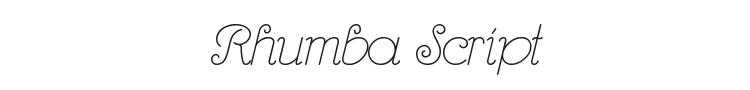 Rhumba Script Font Preview