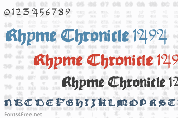Rhyme Chronicle 1494 Font